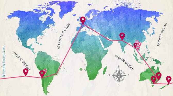 Trajet tour du monde