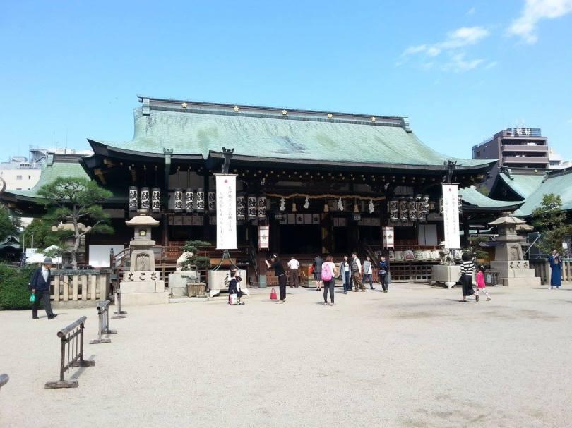 Sanctuaire Tenmangû à Osaka, près de la célèbre rue commerçante Tenjinbashi-suji. Ce jour là, le temple accueillait un marché aux livres.