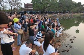 Foule devant Angkor Wat