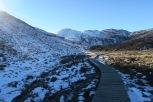 La neige se fait de plus en plus présente et les chemins, meme bien aménagés sont de plus en plus glissants