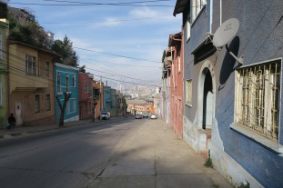 Les pentes sont raides à Valparaiso